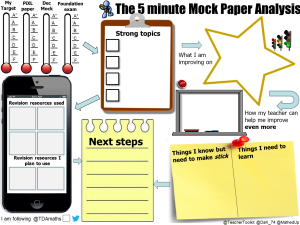 5 minute Mock Paper Analysis
