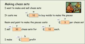 Making chess sets